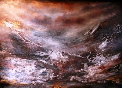 Haldane Elements Commission, Oil & mixed on canvas ,  2.65 x 3 metre x 5cm.(SOLD)