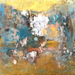 Haldane, Golden touch ,20cm x 20cmx 4.5cm ,oil & mixed media on wood