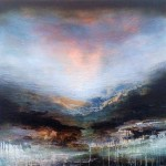 Haldane Above the mountains, 91 x 91cm (SOLD)