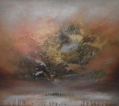 Haldane Enlightenment, 100 x 100 x 3.5cm,Oil & mixed media on canvas £3,500